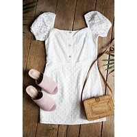 Girl Next Door Dress, White