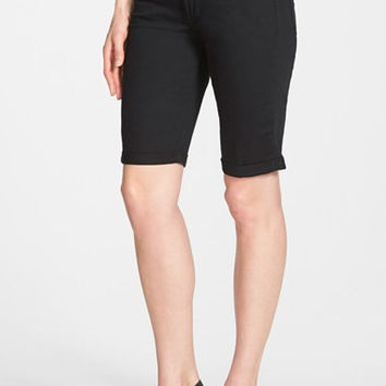 'Brielle' Roll Cuff Stretch Twill Shorts (Regular & Petite)