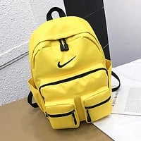 NIKE Summer Popular Sport College Shoulder Bag Travel Bag School Backpack Yellow