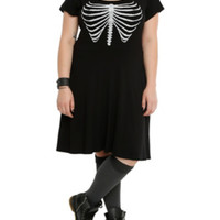 Rib Cage Slash Dress Plus