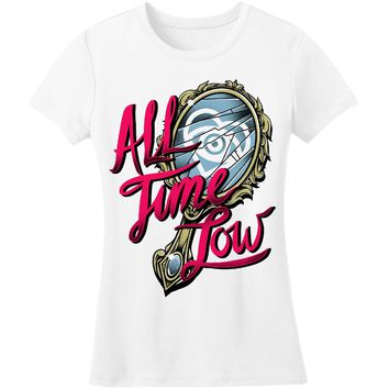 All Time Low  Broken Mirror Junior Top White