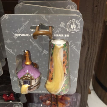 disney parks salt and pepper shakers princess rapunzel tower new with box