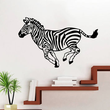 Wall Decal Vinyl Sticker Decals Art Home Decor Design Mural Zebra Animals Jungle Safari African Kids Children Nursery Baby Bathroom AN59