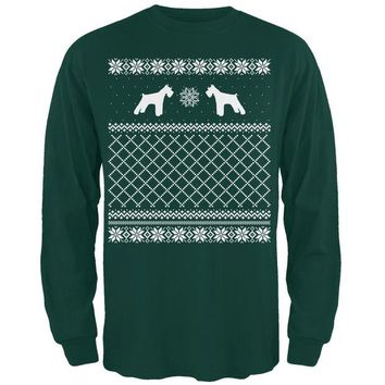 DCCKJY1 Schnauzer Ugly Christmas Sweater Forest Adult Long Sleeve T-Shirt