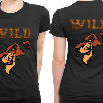 Scar The Wild Lion King 2 Sided Womens T Shirt