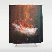 Icarus Shower Curtain by HappyMelvin