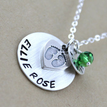 Custom necklace Hand stamped Personalized by LustrousElements