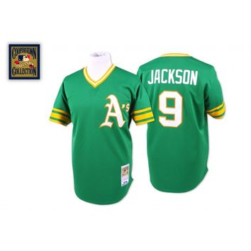 Oakland A's 1974 Road Jersey - Reggie Jackson - Mitchell & Ness