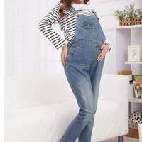 2017 Spring Autumn New Maternity Pants Jeans Loose Adjustable Bib Pants overall for Pregnant Women Pregnant Trousers SH-S120