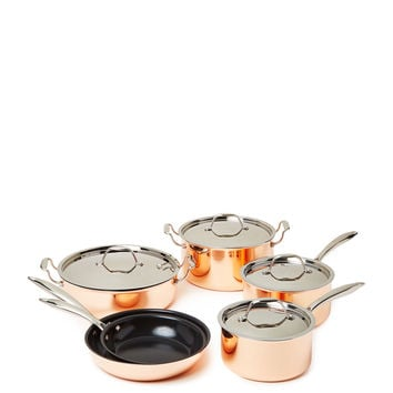 Simmer + Season Copper Cookware Series Set (10 PC) - Rust/Copper