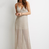 Crochet Halter Maxi Dress