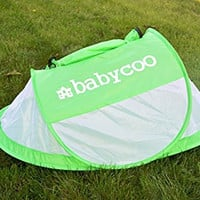 Baby tent, Pop-Up beach tent, Instant travel tent for baby, Protect from sun & bugs (Green)