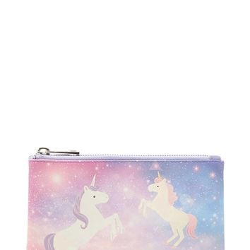 Unicorn Print Clutch