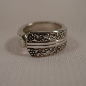 A Spoon Rings Plus Cute Spoon Ring Size 5 1/2 Handmade Spoon and Fork Jewelry t21