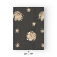 Hardcover Journal / Hardcover Notebook - Dots, Faux Rose Gold, Black, Gift for Her, NewSerenityStudio