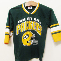 Vintage Green Bay Packers Half Sleeve TShirt