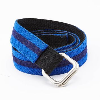 Black & Blue Stripe Belt by One Magnificent Beast