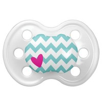 Blue Chevron + Heart Pacifier from Zazzle.com/shaleceelynne*