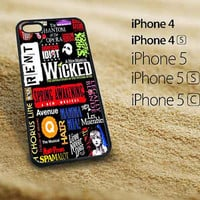 Broadway Wicked fitted iphone 5 case iphone 5s case iphone 5c case iphone 4s case iphone 4 case Samsung Galaxy S3 case Samsung Galaxy S4