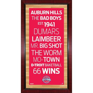 Detroit Pistons Subway Sign Wall Art 16x32 Photo