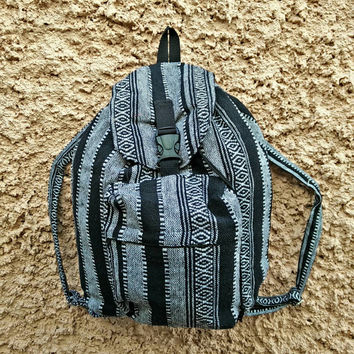 Backpack Aztec Boho Tribal fabric festival bags Travel bag Hippies Ethnic Hobo Styles Hipster Pattern Beach School Messenger Rucksack black