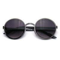 Lennon Inspired Medium Round Circle Metal Sunglasses