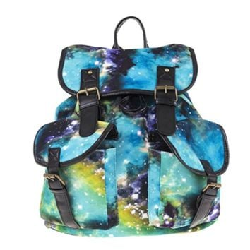 Creative Women's Canvas Galaxy Backpack Travel Bag Outdoor Daypack