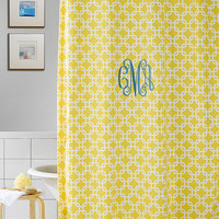 Yellow Metro Shower Curtain