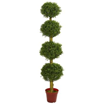 Artificial Tree -6 Foot Four Tier Boxwood Topiary Tree
