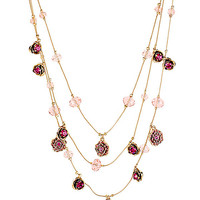 BetseyJohnson.com - IMPERIAL ROSE ILLUSION NECKLACE PINK