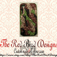 Glitter Sparkley Camo iPhone 4/4S OR 5 Cell Phone Case - Can be ordered on a Otterbox