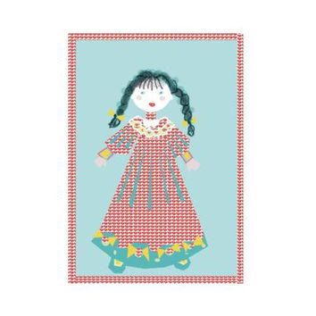 Polly Anne Graphic Art Printable And Ready To Frame For Children's Room..Give As A gift Or Use To Create Some Greeting Cards Or Other Art