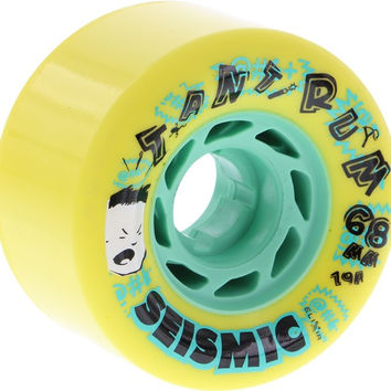 Seismic Tantrum 68Mm 79A Yellow/Mint Longboard Wheels