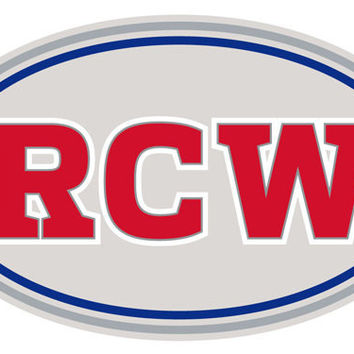 "Set of 2 5"" RCW Memorial Decals - Vinyl Sticker - *Choose Finish* Ralph C Wilson Jr - RCW1"