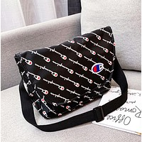 Champion New fashion more letter couple shoulder bag crossbody bag Black