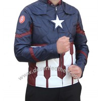 Chris Evans Captain America Civil War Jacket | Desert Leather