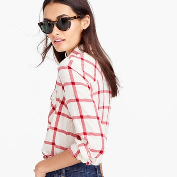 Boyfriend shirt in vintage red plaid : Women button-ups | J.Crew
