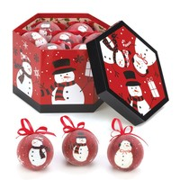 Smiling Snowmen Christmas Ornament Set