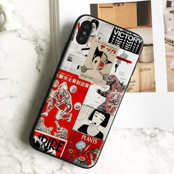 Japanese manga Poster Art Collage Soft silicone TPU Phone Case cover Shell For Apple iPhone 5 5s Se 6 6s 7 8 Plus X XR XS MAX