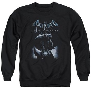 Batman Arkham Origins - Perched Cat Adult Crewneck Sweatshirt