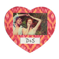 Tribal Print Magnetic Photo Frame - Heart Shaped, Customize this frame