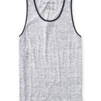 Aeropostale  Mens Solid Heathered Pocket Tank Top - White