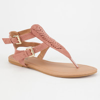 QUPID Woven T-Strap Womens Sandals | Sandals