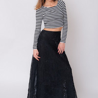 1990's Black Maxi Skirt - Vintage 90's Glam Origami Flare Sheer A Line Futuristic High Waist Cocktail Evening Shiny Long Skirt Size S M