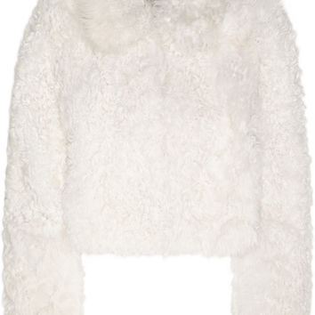 Topshop Unique - Maida cropped shearling coat