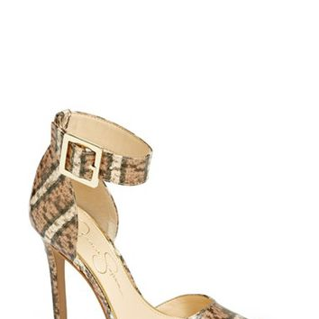 Women's Jessica Simpson 'Cayna' D'Orsay Ankle Strap Pump,