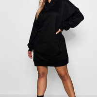 Plus Oversized Hooded Sweat Dress | Boohoo