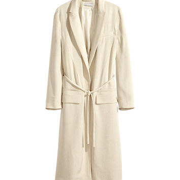 Textured-weave Coat - from H&M