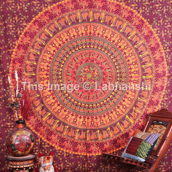 Queen Mandala Camel Hippie Hippy Wall Hanging Indian Tapestry Throw Bedspread Bed Decor Sheet Ethnic Decorative Art