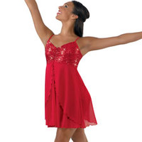 Sequin Camisole Dance Dress Costume; Balera